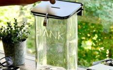 ガラス貯金箱